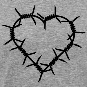 Barbed Wire Heart T-Shirts - Men's Premium T-Shirt