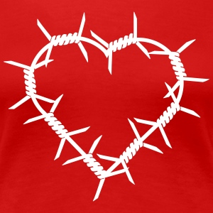 Barbed Wire Heart T-Shirts - Women's Premium T-Shirt