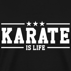 Karate is life T-shirts - Herre premium T-shirt