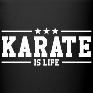 Karate is life Flasker & krus - Ensfarvet krus