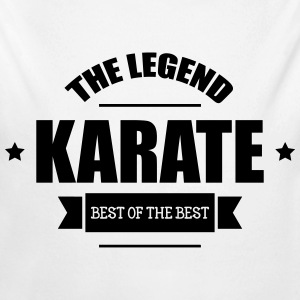 Karate The Legend Sudaderas - Body orgánico de manga larga para bebé
