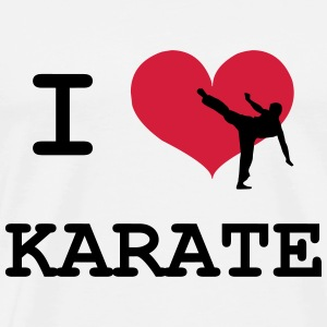 I Love Karate T-shirts - Mannen Premium T-shirt
