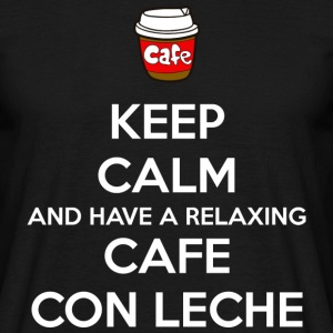 Relaxing cafe con leche (dark) T-Shirts - Men's T-Shirt