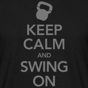 keep Calm And Swing On (Kettlebell) Camisetas - Camiseta hombre