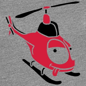 Kleiner süßer Comic Cartoon Heli T-Shirts - Frauen Premium T-Shirt