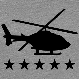 Helicopter shadow silhouette star T-Shirts - Women's Premium T-Shirt