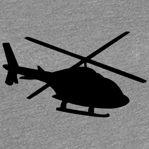 Helikopter skygge silhuet T-shirts - Dame premium T-shirt