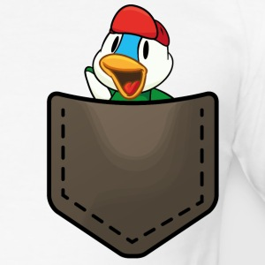 Duck in a pocket T-Shirts - Männer Slim Fit T-Shirt