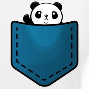 Panda in a pocket Tee shirts - T-shirt col V Femme