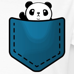 Panda in a pocket T-Shirts - Männer Bio-T-Shirt