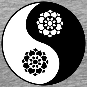 Lotus Flower Yin Yang T-Shirts - Men's Premium T-Shirt