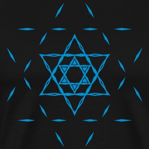 Star of David, hexagram, ✡ Israel, Judaism, Symbol T-Shirts - Men's Premium T-Shirt