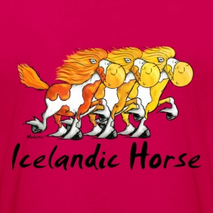 Three Funny Icelandic Horses Long Sleeve Shirts - Women's Premium Longsleeve Shirt