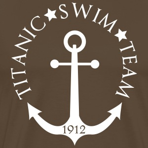 Titanic Swim Team 1912 Anchor T-shirts - Herre premium T-shirt