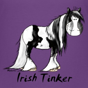 Funny Irish Tinker Horse - Pinto Shirts - Teenage Premium T-Shirt