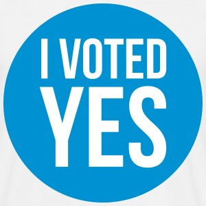 i voted yes Camisetas - Camiseta hombre
