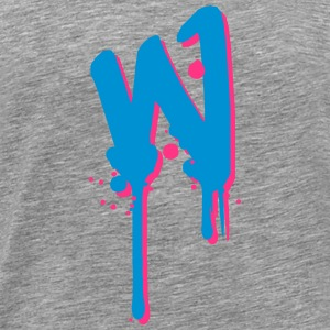 W graffiti drops Farbklex spray T-skjorter - Premium T-skjorte for menn
