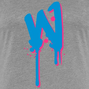 W graffiti drops Farbklex spray T-Shirts - Women's Premium T-Shirt