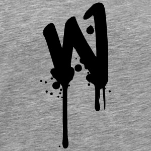 W graffiti drops Farbklex spray T-Shirts - Men's Premium T-Shirt