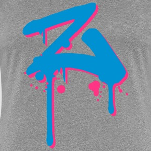 Z Graffiti spray drops Farbklex T-Shirts - Women's Premium T-Shirt