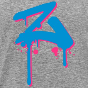 Z graffiti drops Farbklex spray T-skjorter - Premium T-skjorte for menn