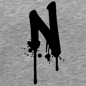 N graffiti drops Farbklex spray T-Shirts - Men's Premium T-Shirt