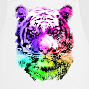 tiger - tigre - big cat - pshycho  Aprons - Cooking Apron