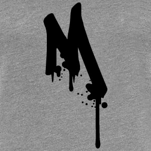 M graffiti drops Farbklex spray T-Shirts - Women's Premium T-Shirt