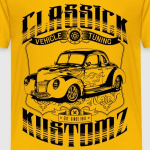 Hot Rod - Classick Kustomz (black) T-Shirts - Kinder Premium T-Shirt