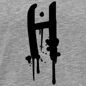 H graffiti drops Farbklex spray T-Shirts - Men's Premium T-Shirt