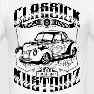 Hot Rod - Classick Kustomz (black) T-Shirts - Men's Slim Fit T-Shirt