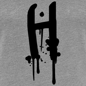 H graffiti drops Farbklex spray T-Shirts - Women's Premium T-Shirt