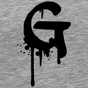 G graffiti drops Farbklex spray T-Shirts - Men's Premium T-Shirt