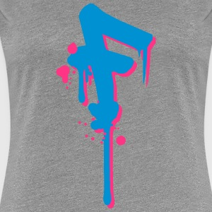 F graffiti drops Farbklex spray T-Shirts - Women's Premium T-Shirt