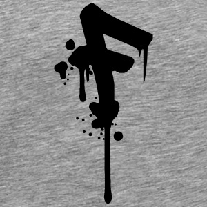 F graffiti drops Farbklex spray T-Shirts - Men's Premium T-Shirt