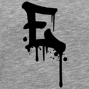 E graffiti drops Farbklex blood spray T-Shirts - Men's Premium T-Shirt