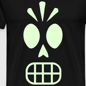 Skull Glow in the Dark Monkey Island - Männer Premium T-Shirt