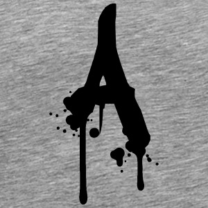 A graffiti drops Farbklex spray T-Shirts - Men's Premium T-Shirt