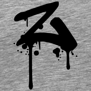 Z Graffiti spray drops Farbklex T-Shirts - Men's Premium T-Shirt