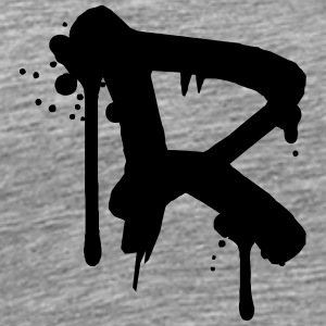 R graffiti drops Farbklex spray T-skjorter - Premium T-skjorte for menn
