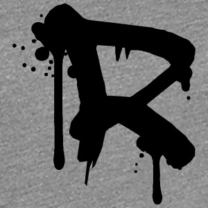 R Graffiti spray drops Farbklex T-Shirts - Women's Premium T-Shirt