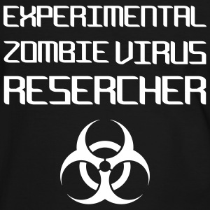 Experimental Zombie Virus Resercher Tee shirts - T-shirt contraste Homme