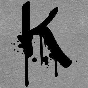 K Graffiti spray drops Farbklex T-Shirts - Women's Premium T-Shirt