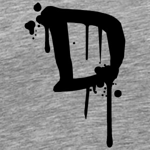 D Graffiti drops Farbklex blood spray T-Shirts - Men's Premium T-Shirt
