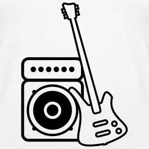Bass guitar with amp Tops - Women's Premium Tank Top