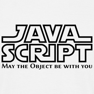 JavaScript - May the Objet be with you (white) - Männer T-Shirt