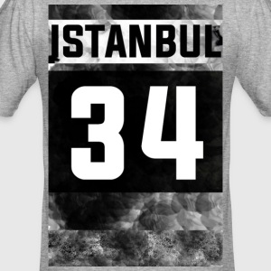 ISTANBUL 34 FOOTBALL STYLE SHIRT GREY - Männer Slim Fit T-Shirt