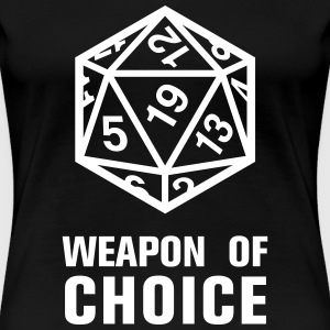 Tabletop Dungeons and Dragons Rollenspiel Würfel - Frauen Premium T-Shirt