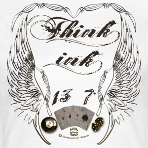 Think Ink wings lucky Tattoo T-Shirts - Frauen T-Shirt