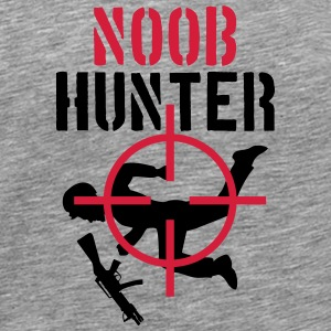 Shooter Noob Hunter Sniper Logo T-skjorter - Premium T-skjorte for menn